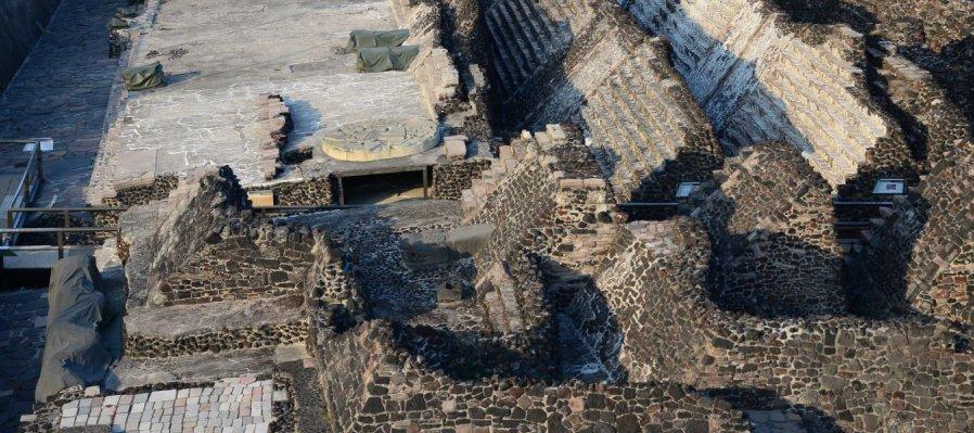 Ventanas Arqueológicas I. Oriente del centro ceremonial Mexica. Centro Histórico, Ciudad de México
