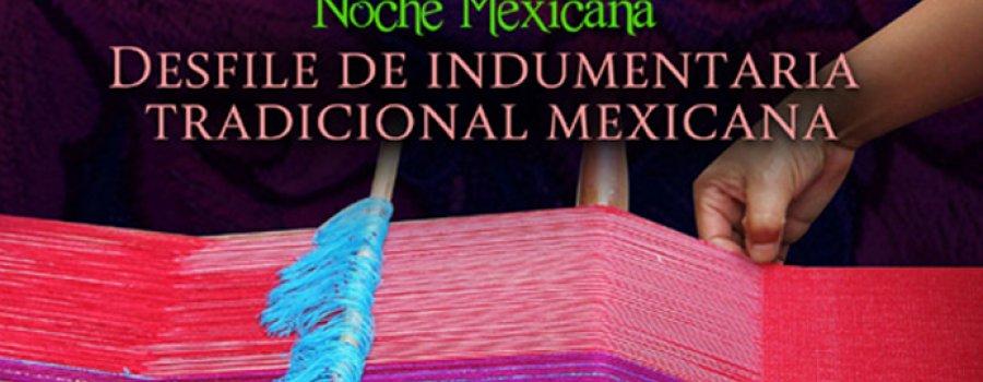 Desfile de indumentaria tradicional mexicana