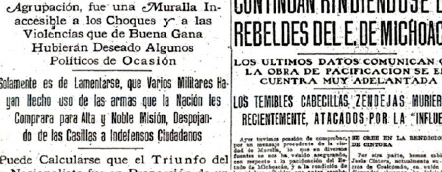 1 de diciembre de 1918: Elecciones en los ayuntamientos del Distrito Federal