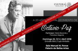 A 20 años del fallecimiento de Octavio Paz