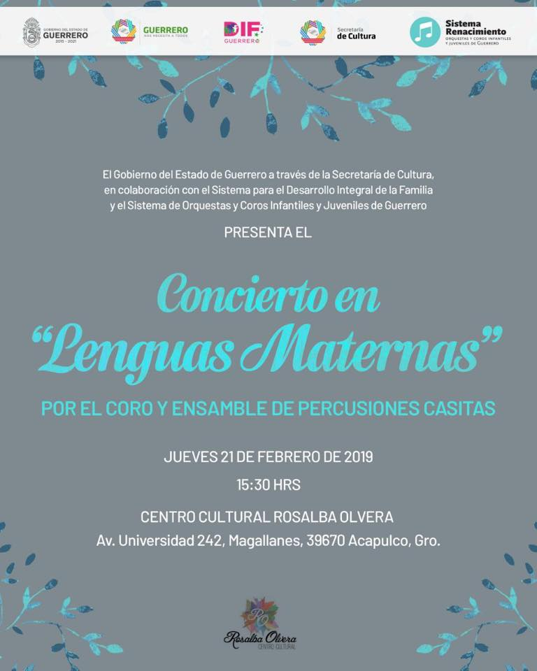 """Concierto """"En Lenguas Maternas"""""""