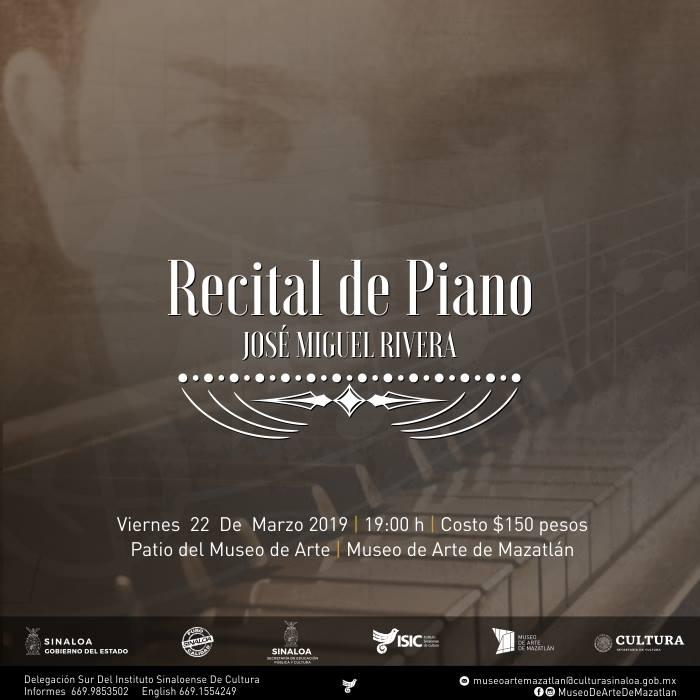 Recital de Piano con José Miguel Rivera