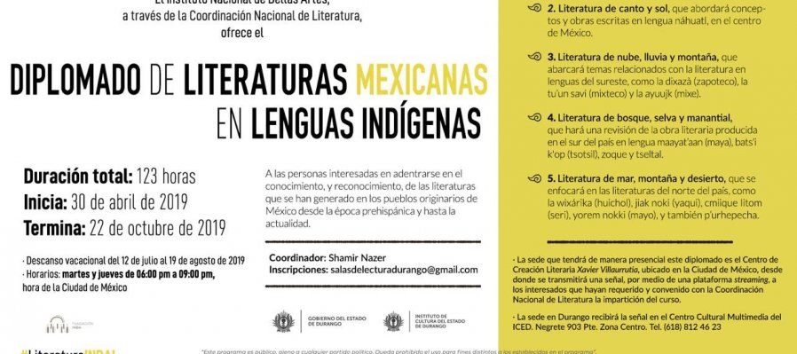 Diploma Course on Mexican Literatures in Indigenous Languages