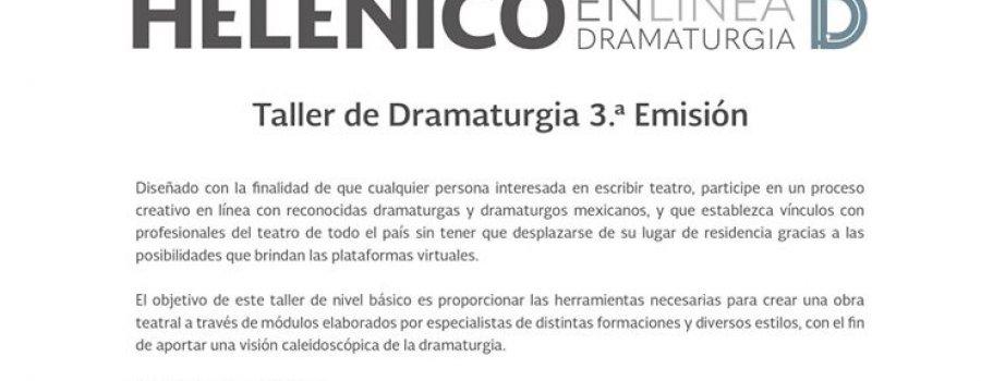 Taller de Dramaturgia 3ª Emisión