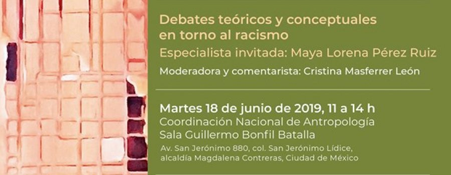 Seminario Antropología e historia de los racismos, las discriminaciones y las desigualdades