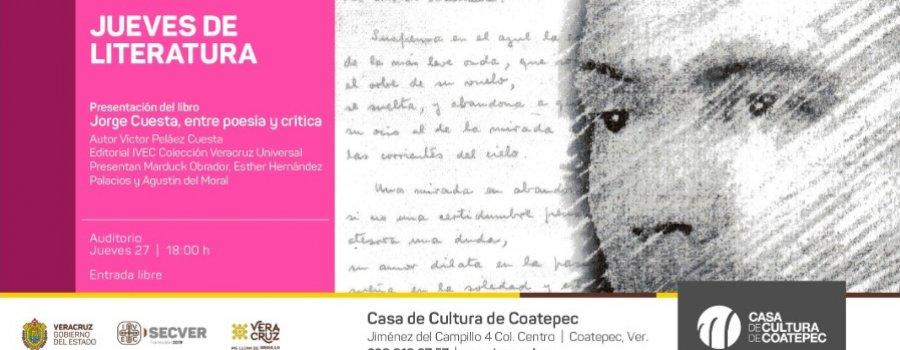 Jorge Cuesta, entre poesía y critica.