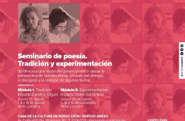 Seminario de poesía. Tradición y experimentación