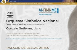 Concierto dedicado al Palacio de Bellas Artes en su 85 An...
