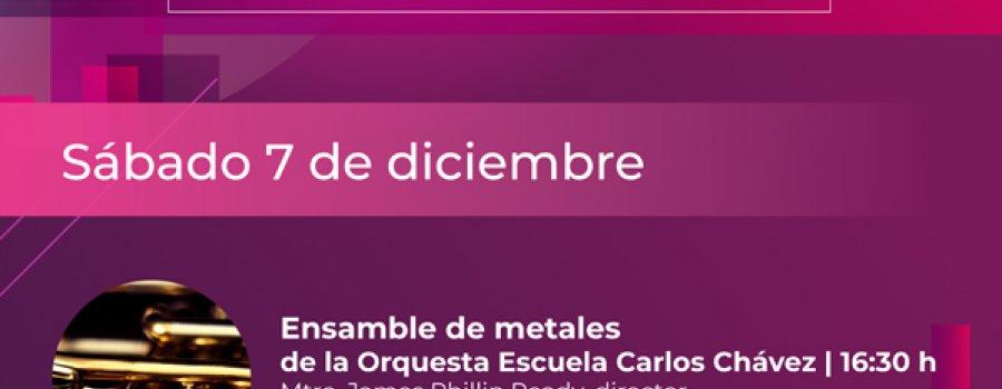 Ensamble de metales de la Orquesta Escuela Carlos Chávez