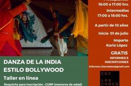 Taller de Danza de la India estilo Bollywood 2021