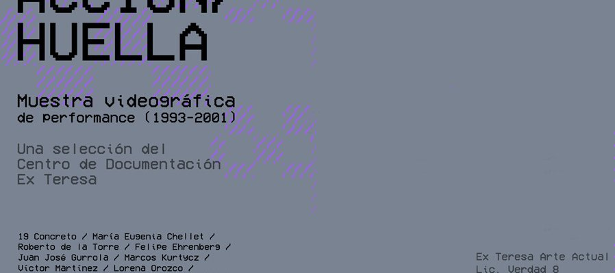 Action/Mark. Videographic Exhibition of Performance (1993-2001)