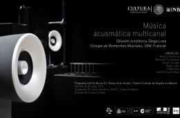 Música acusmática multicanal Difusión octofónica: Die...