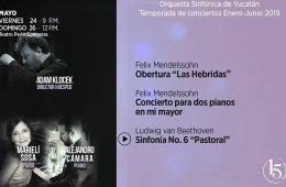 Marielí Sosa y Alejandro Cámara con la Orquesta Sinfón...