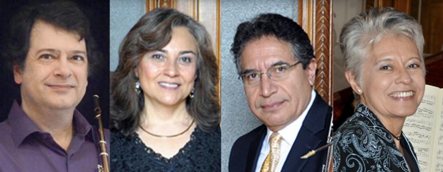 Águeda González, Rafael Urrusti, Carmen Thierry y Gerardo Ledezma