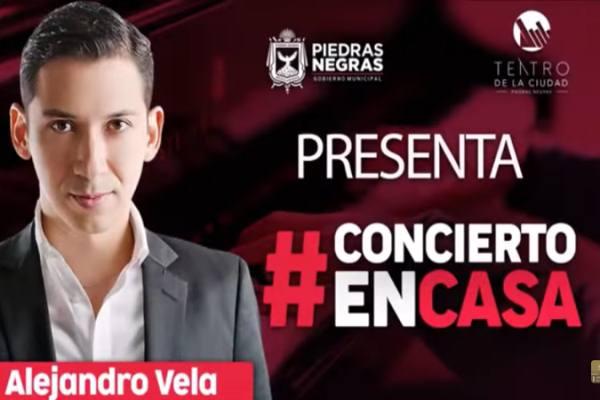 Concierto en casa con Alejandro Vela desde Teatro de la Ciudad