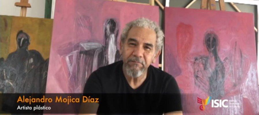 Alejandro Mojica en charla sobre sus obras a través de los años