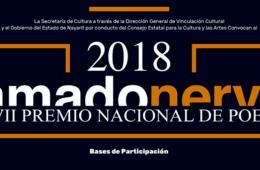 XVII Premio Nacional de Poesía Amado Nervo 2018