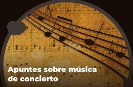 Apuntes sobre la música de concierto: relatos de piedra