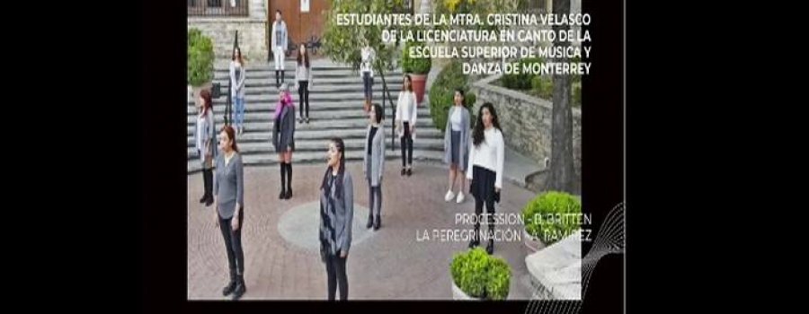 Procession del compositor Benjamin Britten. Escuela Superior de Música y Danza de Monterrey