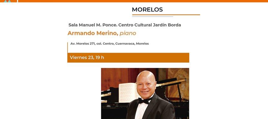 Concierto de Armando Merino, piano