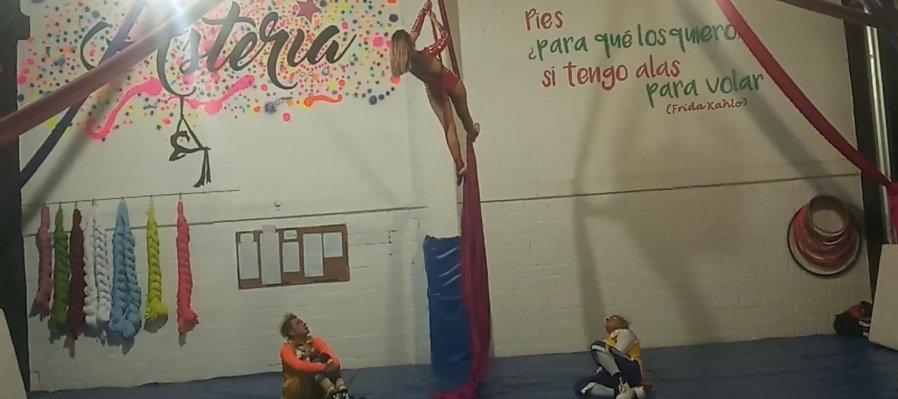Circo Aéreos, telas y aros