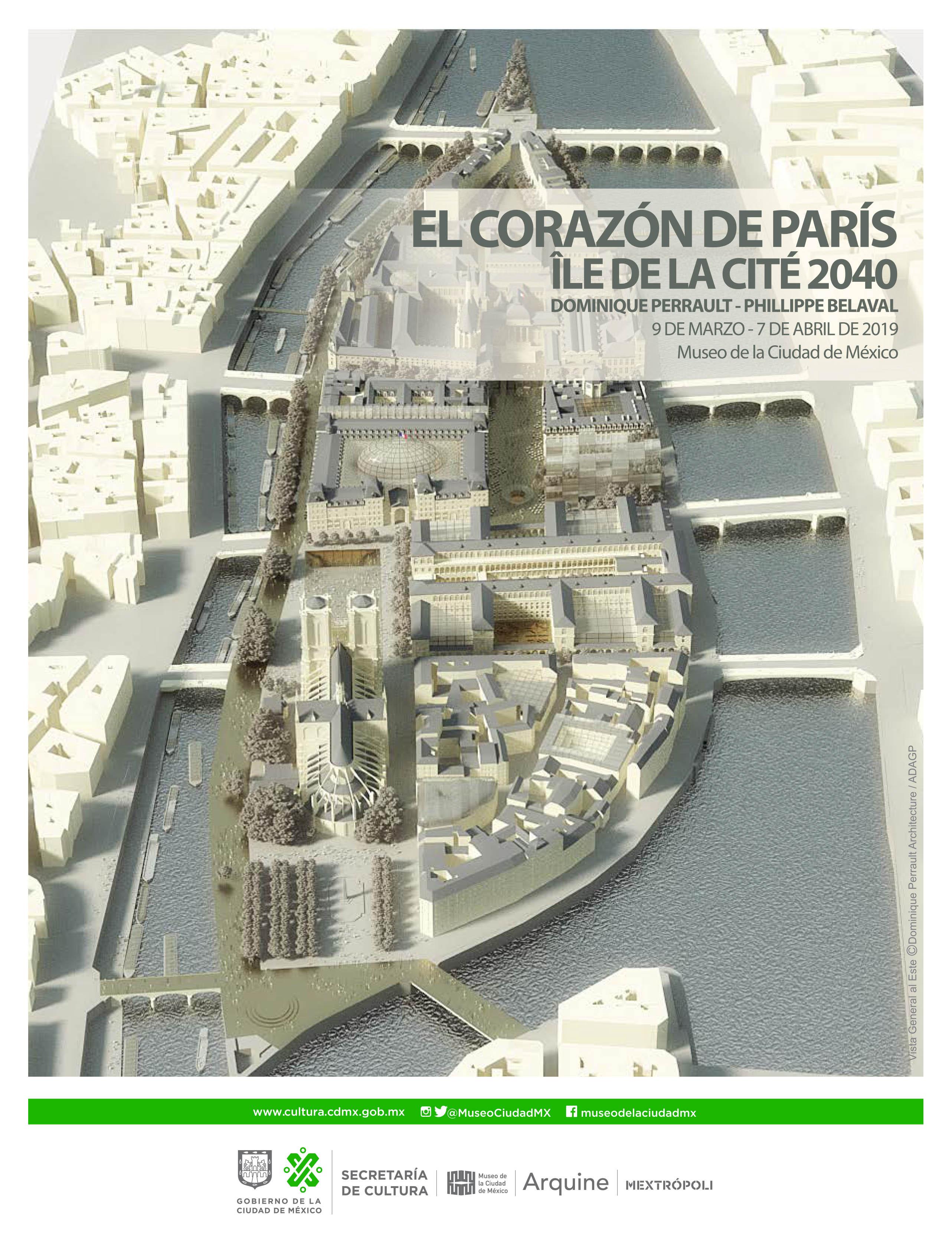 Dominique Perrault. El corazón de París Île de la Cité 2040