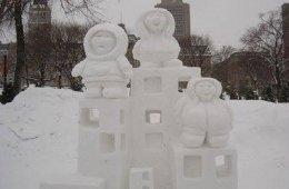Arte con nieve en Canadá