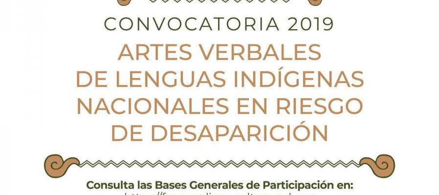 Artes Verbales de Lenguas Indígenas Nacionales en Riesgo de Desaparición