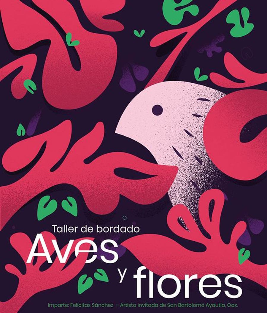 Aves y flores
