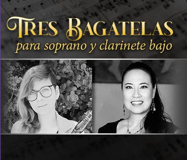 Tres Bagatelas para soprano y clarinete bajo