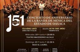 151 Concierto de aniversario de la banda de música del e...
