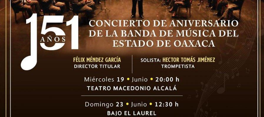 151 Concierto de aniversario de la banda de música del estado de Oaxaca