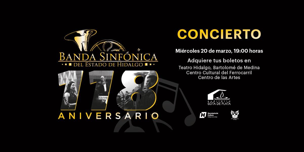 118 aniversario de la Banda Sinfónica del Estado de Hida...