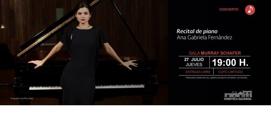 Recital de piano de Ana Gabriela Fernández