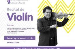 Recital de violín/Orquesta Escuela Carlos Chávez