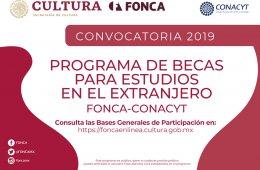 Abren Fonca y Conacyt convocatoria de Becas para Estudios...