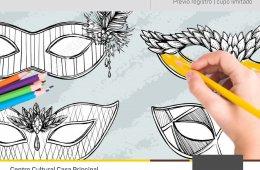Dibujando mi máscara de Carnaval