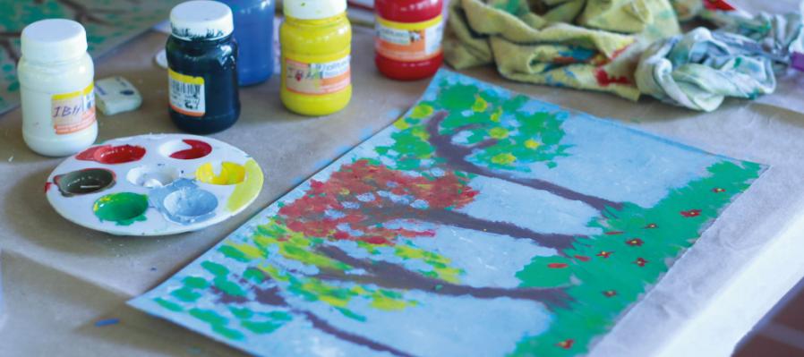 Pintura y creatividad para niñas y niños