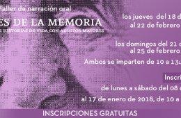 Taller de narración oral: Voces de la memoria: anécdota...