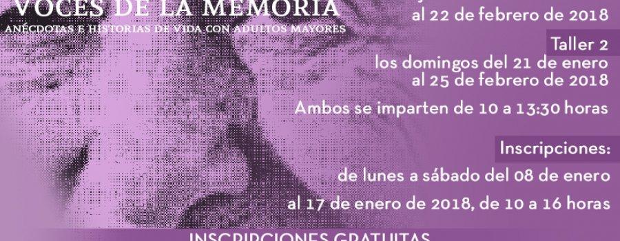 Taller de narración oral: Voces de la memoria: anécdotas e historias de vida con adultos mayores