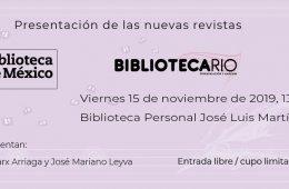 Presentación de las revistas Bibliotecario y Biblioteca ...