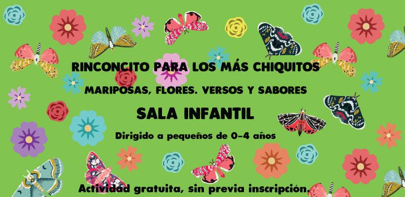 Rinconcitos para los más chiquitos: mariposas, flores, versos y sabores