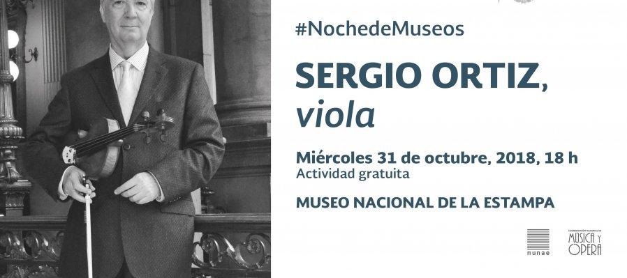 Concierto de Noche de Museos: Sergio Ortiz, viola