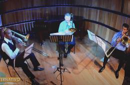 Vive Bethoven con el cuarteto de trombones de Aguascalien...
