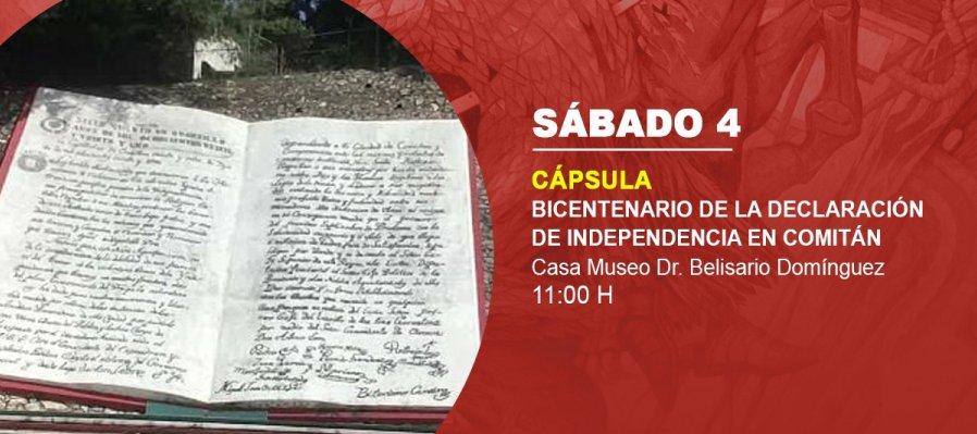 Bicentenario de la declaración de independencia en Comitán
