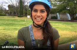 La bicicleta azul