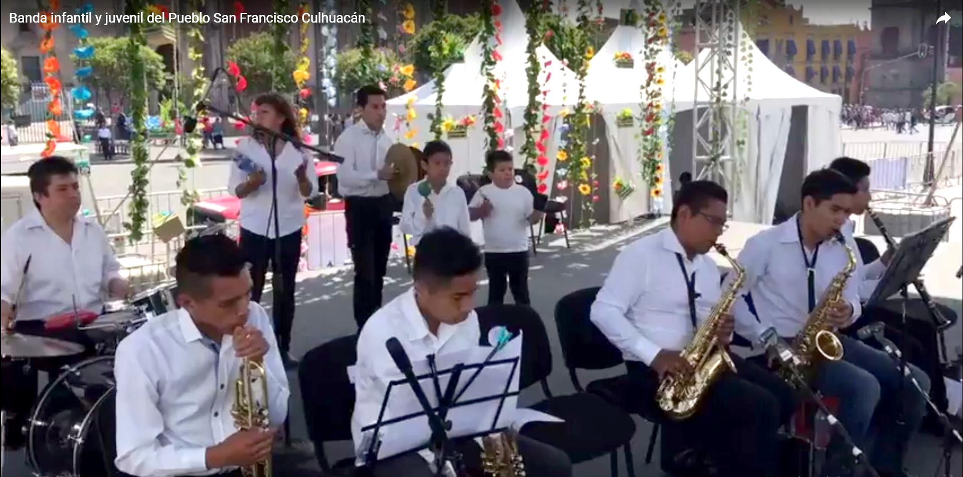 Banda infantil y juvenil del Pueblo de San Francisco Culhuacán