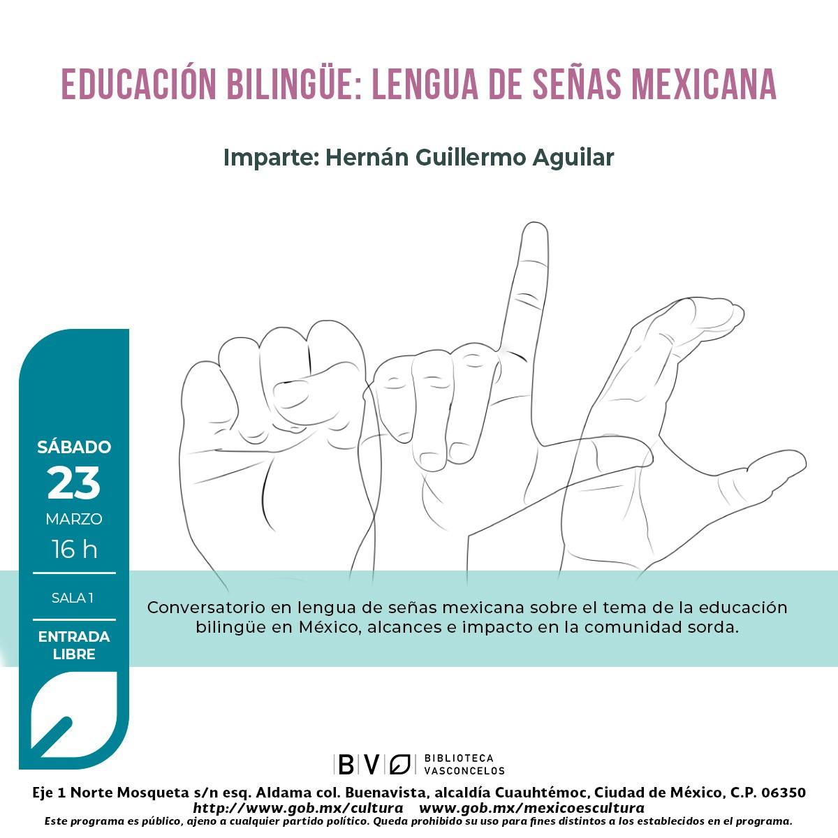 Educación bilingüe: lengua de señas