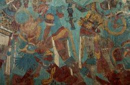 Zona arqueológica de Cacaxtla. Tlaxcala