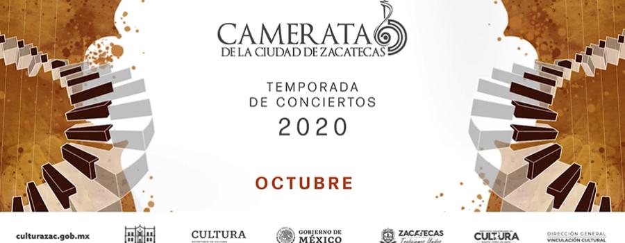 Primer concierto virtual de la Camerata de la Ciudad de Zacatecas